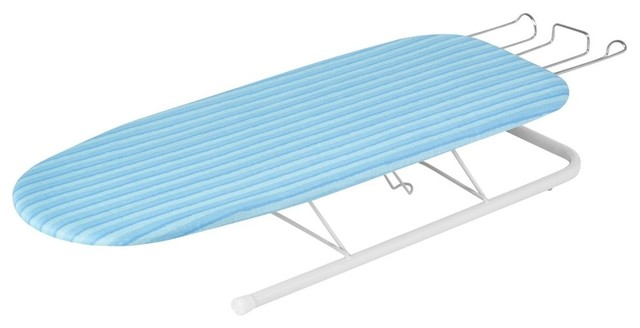 Tabletop Ironing Board With Retractable Iron Rest.