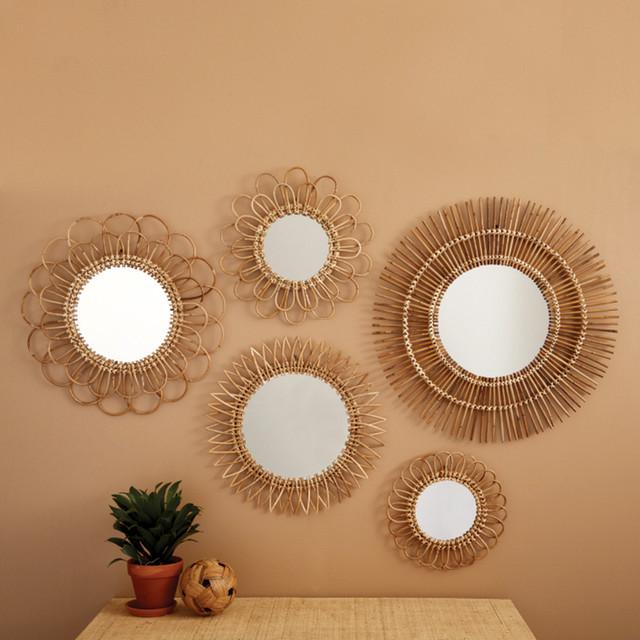 Tropical Rattan Mirrors