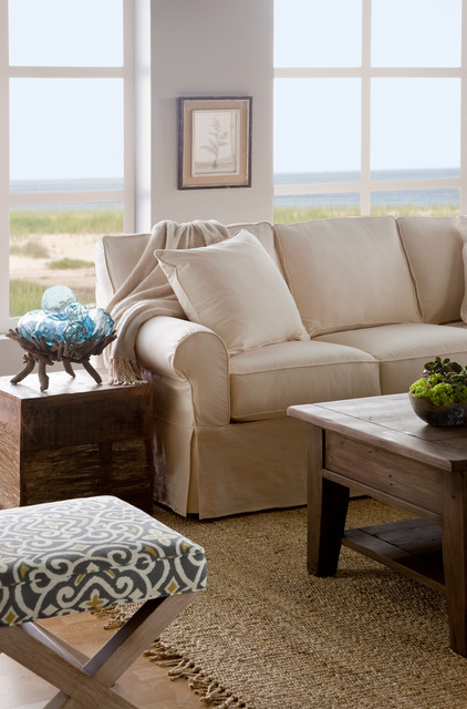 Fairbanks Slipcover Sofa Traditional Living Room