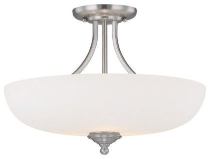Capital Lighting 3947-Sw 3 Light Semi-Flush Mount Ceiling Fixture From The Chapm.