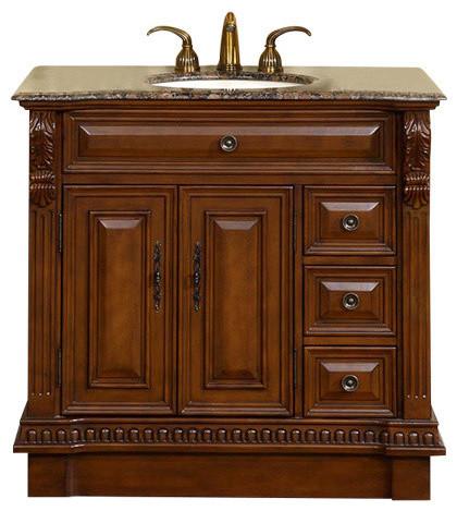 38 Inch Brown Bathroom Vanity With, 38 Bathroom Vanity