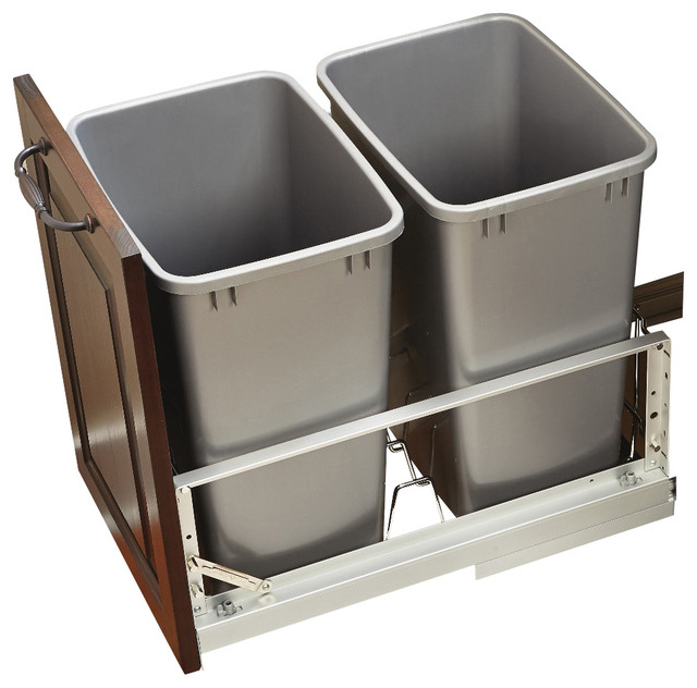rev a shelf double 35 quart pullout waste containers contemporary trash cans by rev a shelf. Black Bedroom Furniture Sets. Home Design Ideas