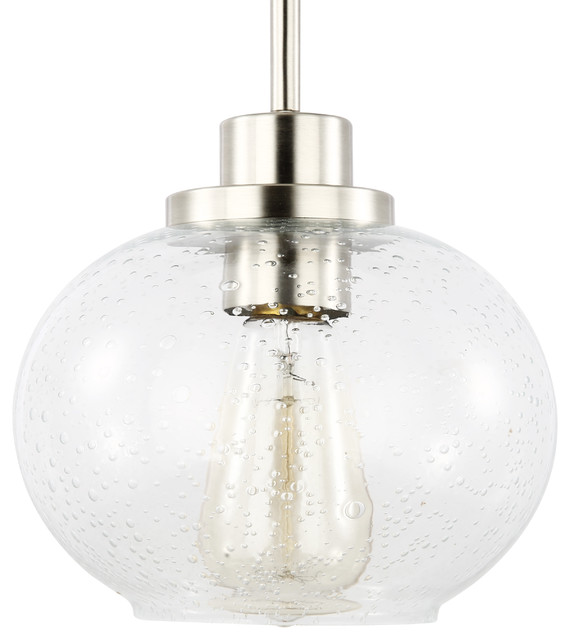 Comstock Seeded Gl Pendant Light