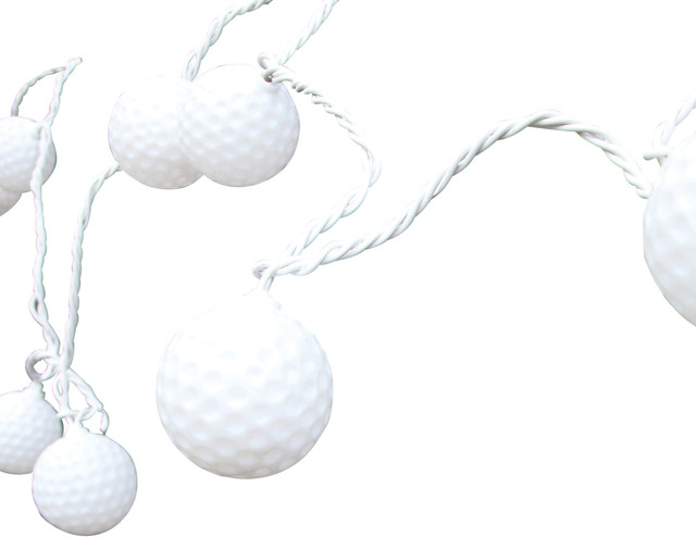 Golf Ball String Lights, 10 Count - Contemporary - Outdoor Rope And String Lights - by DEI