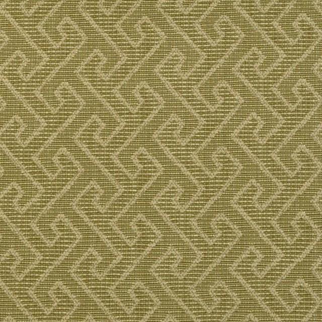 Greek Key - Avocado Upholstery Fabric