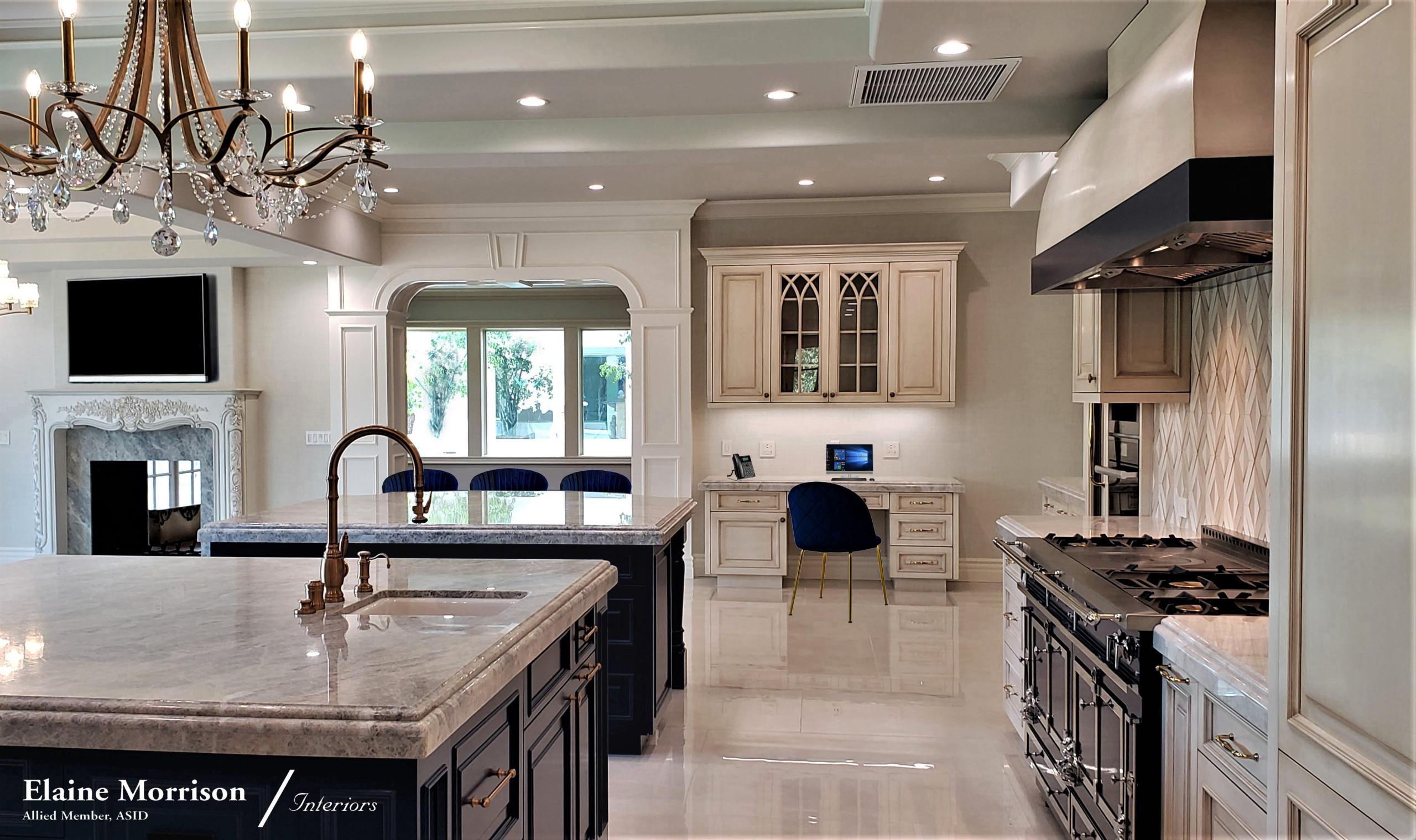 "My Transitional Kitchen Remodel featuring a 72"" La Cornue Range"