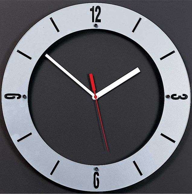 Emilio Square Back With Round Floating Face Clock By Peter