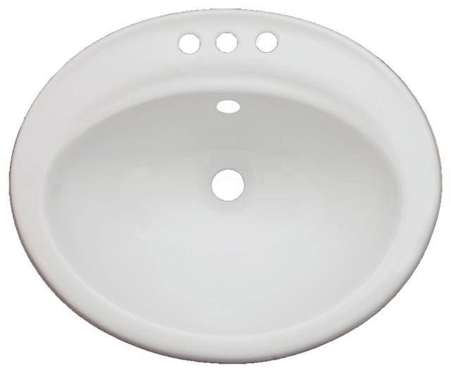 vanity fantasies daisy 3 hole porcelain oval drop in vanity sink traditional bathroom. Black Bedroom Furniture Sets. Home Design Ideas