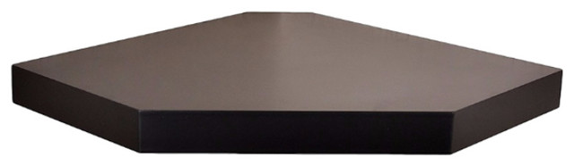 Chicago Wall Floating Corner Shelf, Espresso contemporary-display-and-wall- shelves