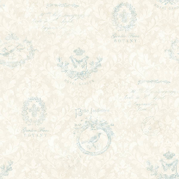 Block Print Wallpaper belle jardin sky block print wallpaper - contemporary - wallpaper