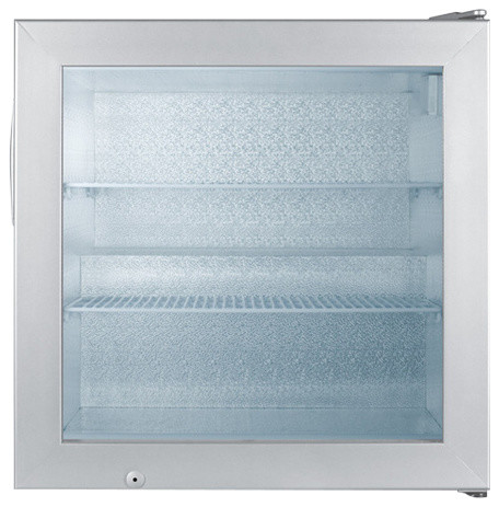 Summit 24 Commercial Glass Door Upright Freezer With 2 Cu. Ft. Capacity.