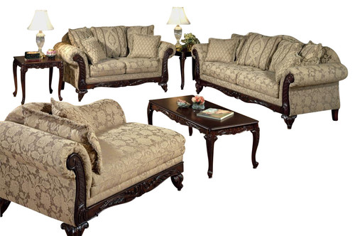 Chelsea Home Serta Kelsey 3 Piece Living Room Set in Clarissa Carmel