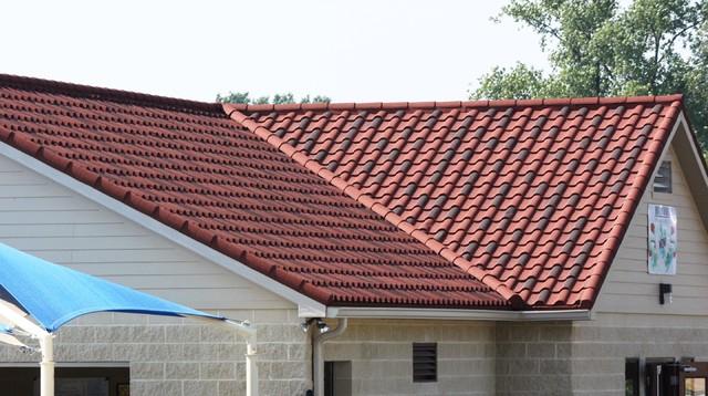 Stone coated steel roofing decra villa tile for Metal roof that looks like spanish tile