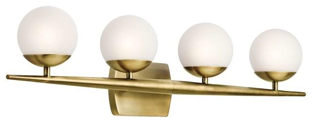 Kichler 45583nbr Jasper Bathroom Light, Natural Brass.
