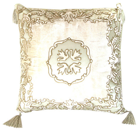 Traditional Accent Pillows : Royal Family Embroidered Accent Pillow - Traditional - Decorative Pillows - by Royal Family