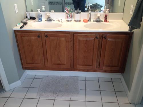 Bathroom Vanity Not Against Wall suggestions for double vanity between 2 walls
