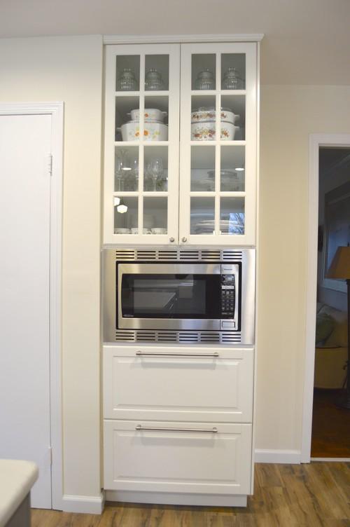 Ikea sektion reveal for Microwave table ikea