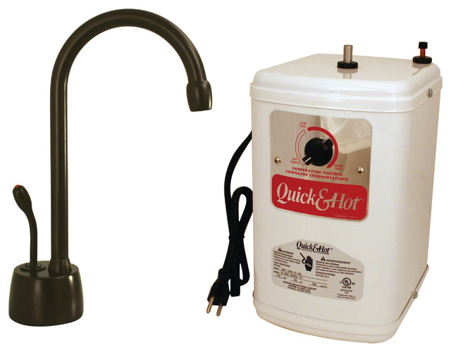 """Velosah Contemporary 9"""" Hot Water Dispenser And Tank In Oil Rubbed Bronze"""
