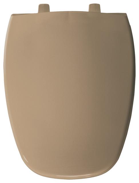 church bemis eljer emblem plastic round toilet seat sandalwood