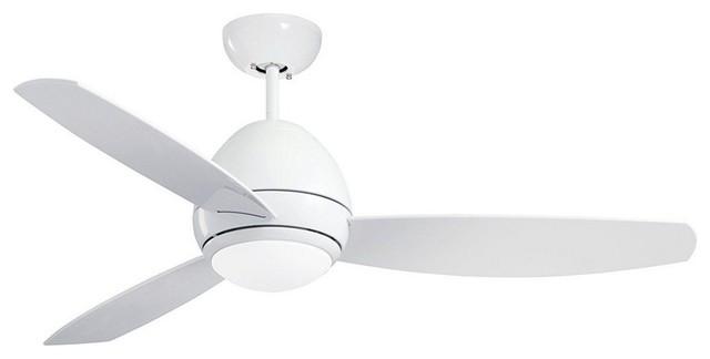 """Curva 52"""" Outdoor Ceiling Fan Appliance White All-Weather Applian."""