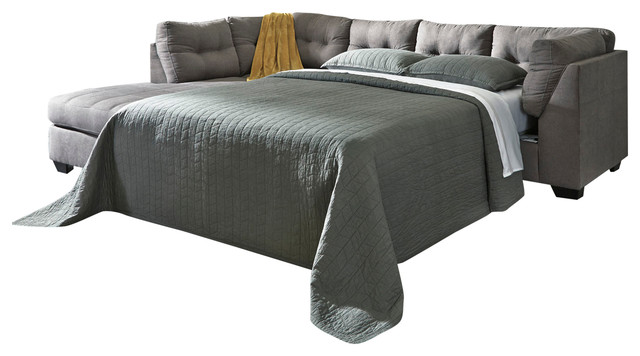 Maier Contemporary Laf Corner Chaise Raf Sofa Sleeper, Charcoal.
