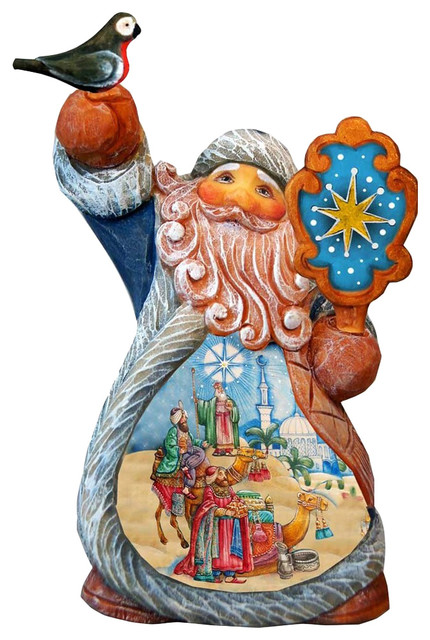 Hand Painted Three Kings Santa Tiny Tale Santa Figurine.