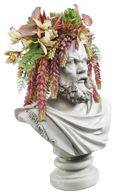 Socrates Bust Planter