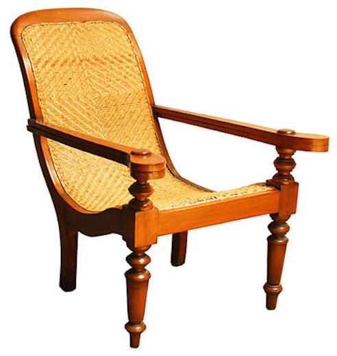 British Colonial Java Plantation Chair
