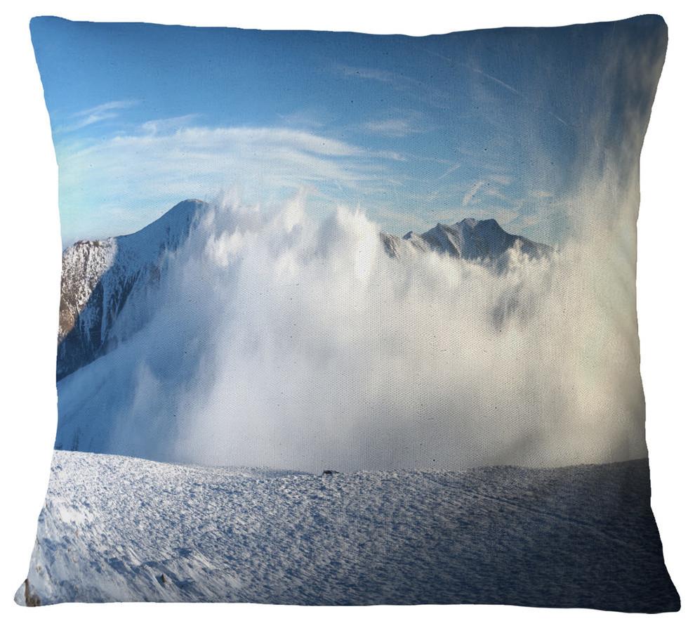 Beautiful Winter Landscape Photography Throw Pillow Contemporary Decorative Pillows By Design Art Usa