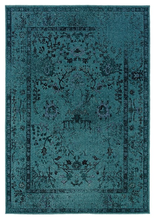 Oriental Weavers Revival 550H2 Teal/Gray Oriental Area Rug, 7'10x10'10
