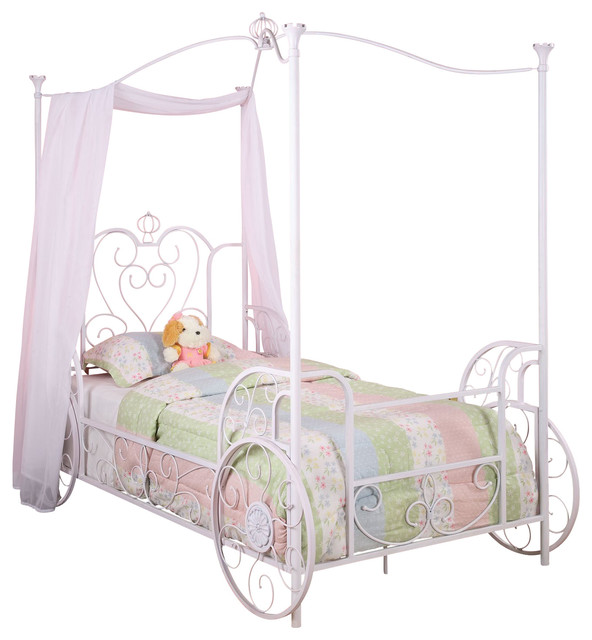 Powell Princess Emily Carriage Canopy Twin Size Bed (includes Bed ...