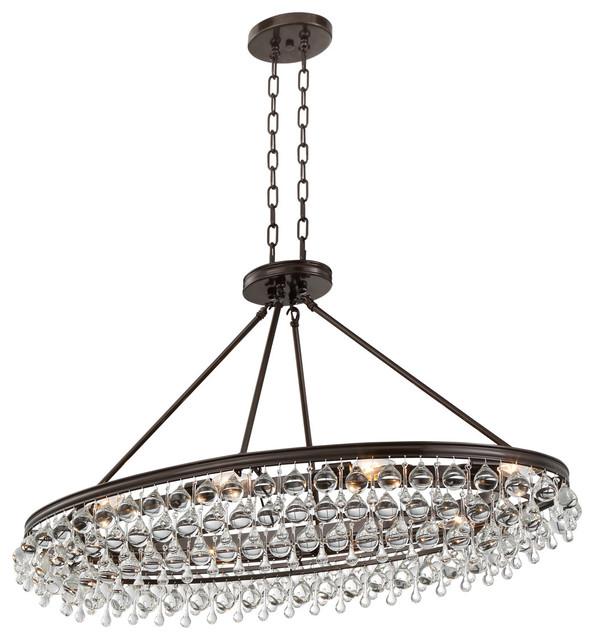 Crystorama calypso 8 light crystal teardrop oval chandelier craven 8 light crystal teardrop chandelier bronze aloadofball Gallery