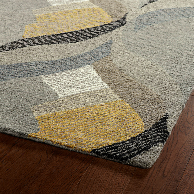 """Kaleen Hand-Tufted Montage Collection Rug, 5'x7'9"""""""
