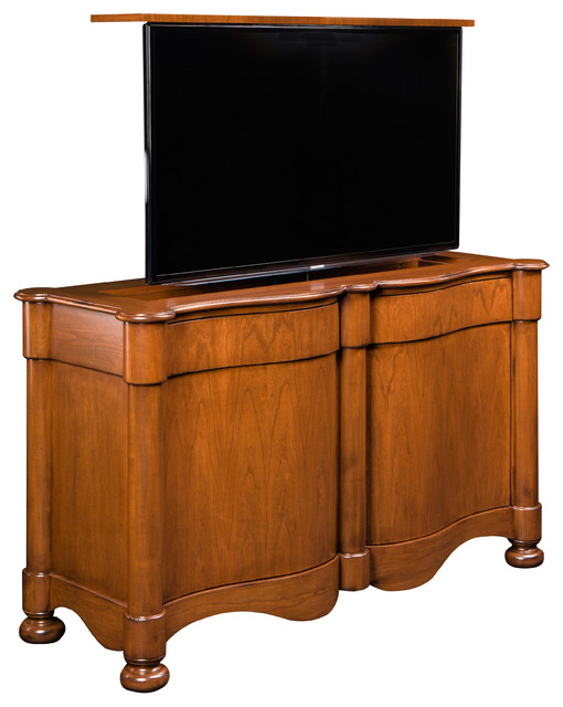 catalan flat screen tv lift cabinet us made pop up tv by. Black Bedroom Furniture Sets. Home Design Ideas