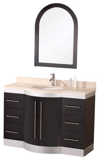 """Jade 48"""" Single Sink Vanity Set With Granite Top."""