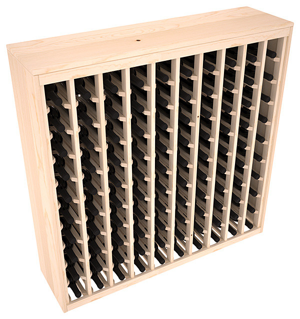 Wine Racks America 100-Bottle Deluxe Wine Rack, Ponderosa Pine, Unstained.