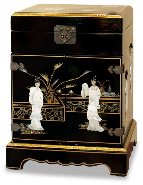 China Furniture and Arts Mother of Pearl Motif Jewelry Cabinet - Jewelry Boxes And Organizers ...