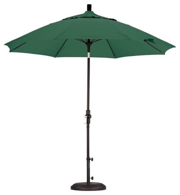 California Umbrella 9&x27; Market Patio Umbrella, Hunter Green.