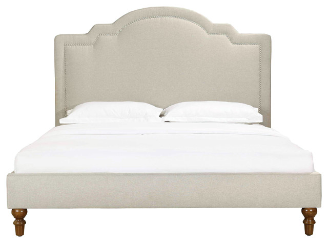 Cassis Upholstered Bed, King. -1