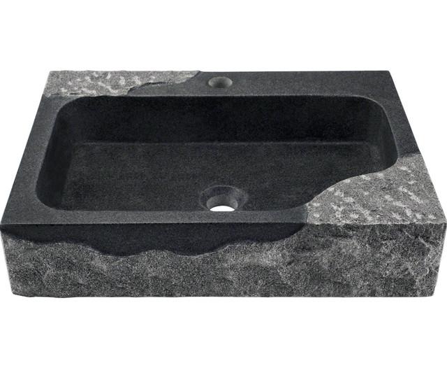 Polaris P568 Impala Black Granite Vessel Sink