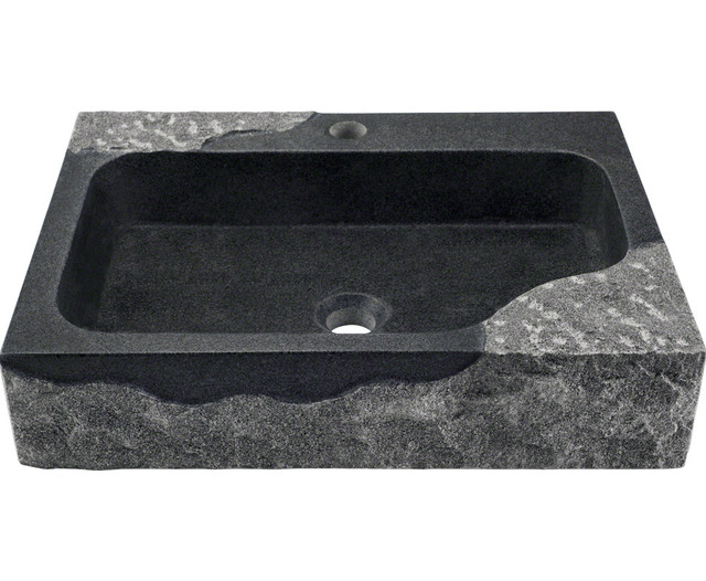 Polaris P568 Impala Black Granite Vessel Sink