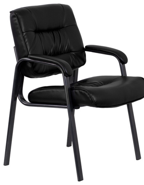 Tremendous Black Leather Executive Side Chair With Titanium Frame Finish Bt 1404 Bkgy Gg Pdpeps Interior Chair Design Pdpepsorg