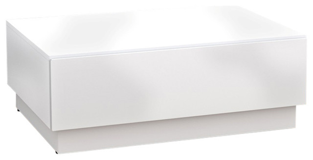 Boulevard Coffee Table, White Contemporary Coffee Tables