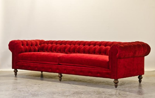 Red Chenille Chesterfield Sofas Charlotte by COCOCO  : sofas from www.houzz.com size 640 x 404 jpeg 43kB
