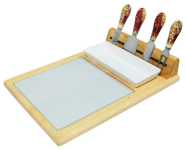 Epicureanist Cheese Tray Serving Set Transitional