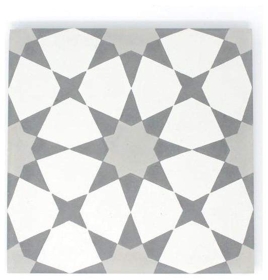 8x8 Rabat Cement Tile Contemporary Wall And Floor Tile By