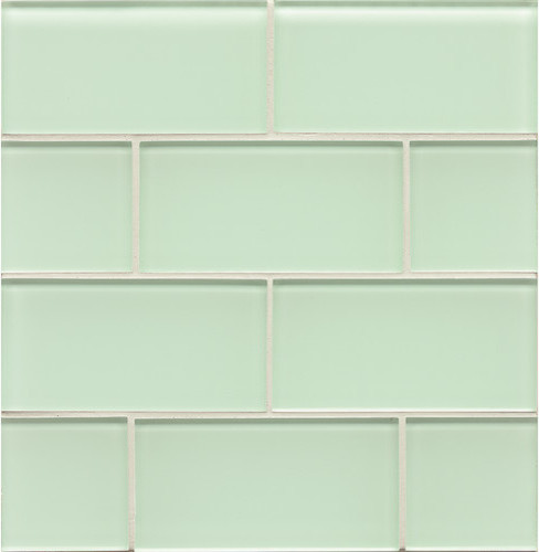 Spa Glass Bottle 3x6 Subway Glass Tile - Wall
