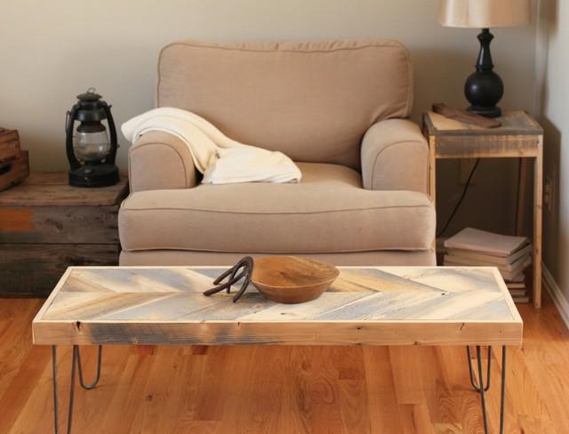 Modern Reclaimed Wood Arrow Coffee Table - Modern - Coffee ...