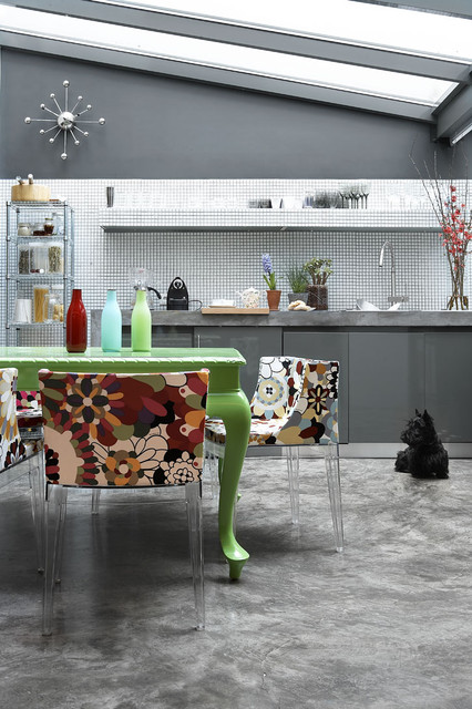 living space eclectic kitchen