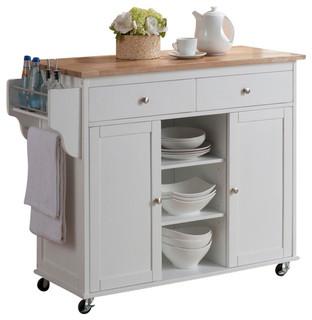 Küchenwagen Landhausstil baxton studio meryland white modern kitchen island cart